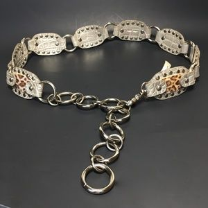 Kathy VanZeeland Chain Link Animal Pewter Hip Belt